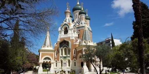Nice's Cathedral Russian France