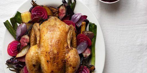 Thanksgiving Roast Chicken Rosé Mirabeau Wine