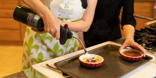 Lemongrass Crème Brûlée Tasha Anne Powell and Chef Liz Thompson