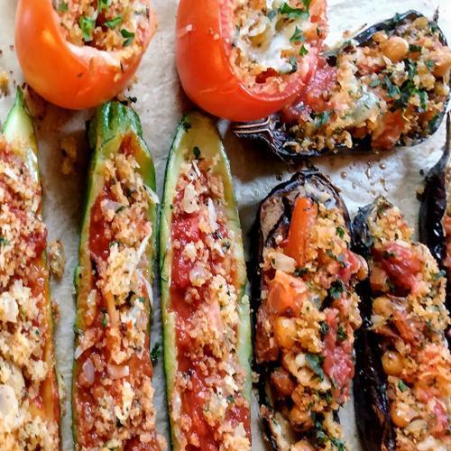 Stuffed Zucchini Tomatoes Eggplant