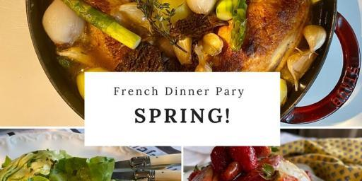 Spring Dinner Menu Paris French Menu 2021