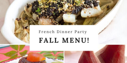 Flavours of Provence Fall Dinner Menu 2021